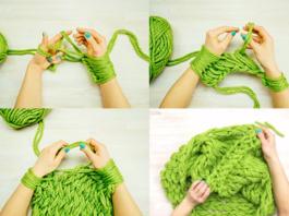 Как связать шарф без спиц за 30 минут! Невероятно легко и быстро!