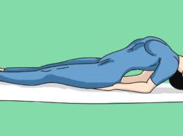Она делала это упражнение всего 1 раз в 2 дня. Спина перестала болеть сразу же!